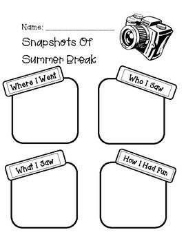 Snapshots of Summer Break