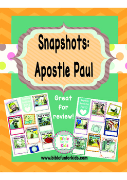 Snapshots of the Apostle Paul in Acts Worksheets Freebies