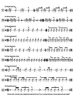 Snare Rudiments for the Beginning Percussionist