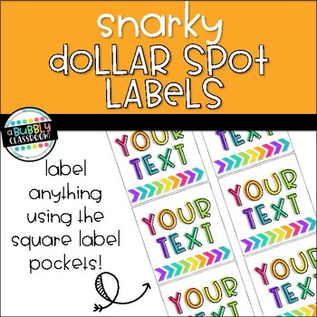 Snarky Dollar Spot Labels