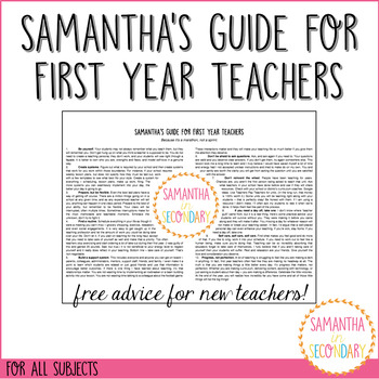 Snarky's Guide for First Year Teachers