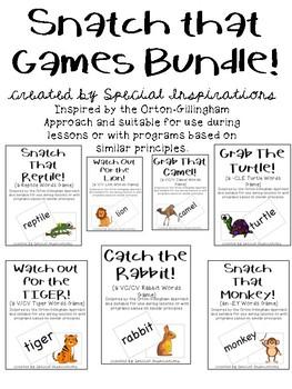 Snatch That! Games Bundle! (Orton-Gillingham Inspired)