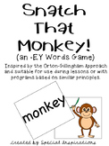 Snatch That Monkey! (an -ey words game) Orton-Gillingham Inspired