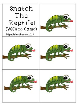 Snatch That Reptile! (A VCCVce Game) Orton-Gillingham Inspired