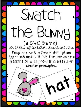 Snatch the Bunny! (cvc reading game) Orton-Gillingham