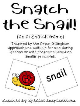 Snatch the Snail! (an ai game) Orton-Gillingham