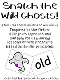 Snatch the Wild Ghosts! (an old, ild, ind, ost Game) Orton-Gillingham