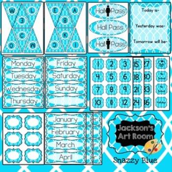 Snazzy Blue Classroom Kit