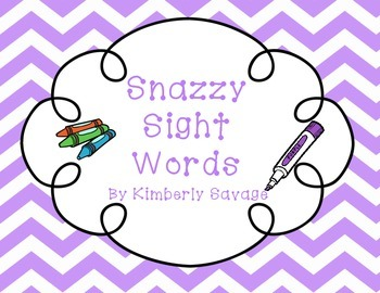 Snazzy Sight Words