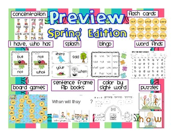 Snazzy Sight Words: Spring Edition