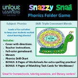Snazzy Snail Folder Game Phonics Triple Consonant Blends
