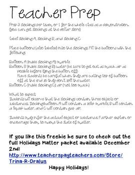 Sneak Peek Into Holidays Matter Freebie! (An Experiment with Matter)