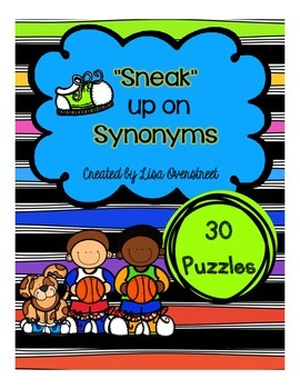 """""""Sneak"""" Up on Synonyms Puzzles"""