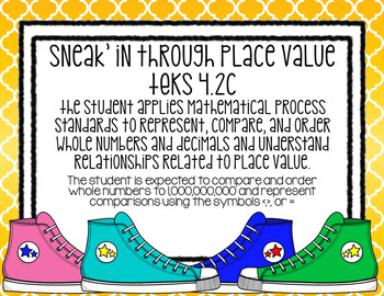 Sneak'in Through Place Value- TEKS 4.2c