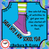 BACK TO SCHOOL ACTIVITY Sneakers Thematic Unit ELA Math HOTS Arts