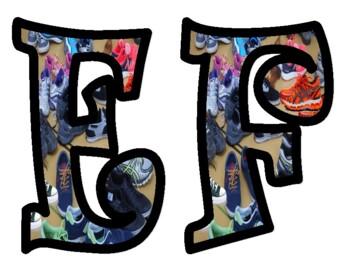 Sneaker Alphabet Bulletin Board Letters
