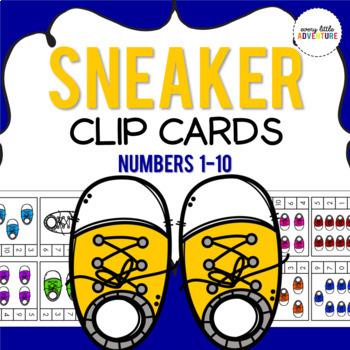 Sneaker Count & Clip Cards (Pre-K)
