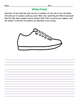 Sneaker Writing Prompt