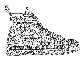 Personable Nike Air Max Coloring Pages Coloring For Sweet Nike ... | 270x350
