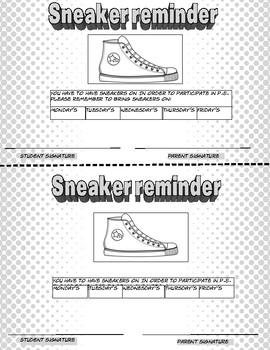 Sneaker reminder