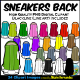 Sneakers Clip Art (Back View) for Personal and Commercial Use