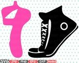 Sneakers & Ballet Shoes Ballerina slippers clipart studio svg Legs clip art 668s