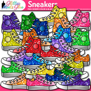 Sneaker Clip Art {Great for Back to School Classroom Decor & Brag Tags}