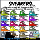 Sneakers Clip Art (Side View) for Personal and Commercial Use
