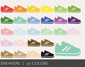 Sneakers Digital Clipart, Sneakers Graphics, Sneakers PNG, Rainbow Sneakers