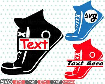 Sneakers Frame SVG clipart dance Athletic Sport Shoes Studio3 Fitness Gym -667s
