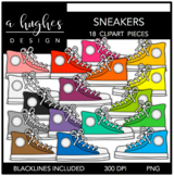Sneakers Clipart {A Hughes Design}