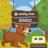 Sneaky Bear Bingo: a piano keys game