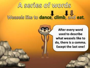 Commas in a Series PowerPoint Lesson