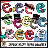 Sneaky E, Bossy E, Super E, Magic E, Silent E Clip Art