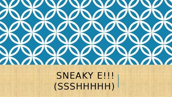 Sneaky E Lesson Plan and Game