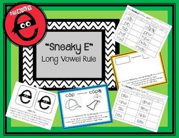 Sneaky E Long Vowel Rule