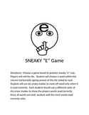 Sneaky E Phonics Game