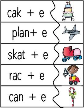 Sneaky E, Silent E Activities