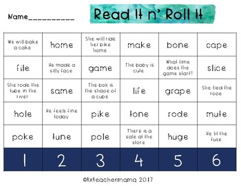Sneaky E Sort & Read It Game