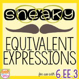 Sneaky Equivalent Expressions Scavenger Hunt & Sort CCSS 6