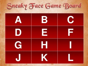 Letter Game: Sneaky Face