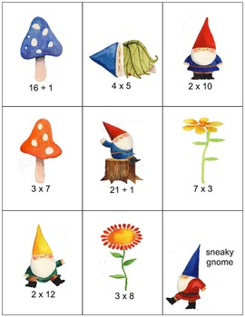 Sneaky Gnome Game Multiplication & Division Version