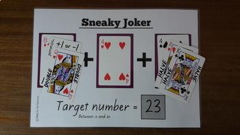 Sneaky Joker Basic facts game