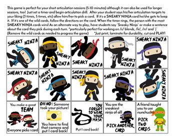 Sneaky Ninja Quick Drill {for any skill drill}
