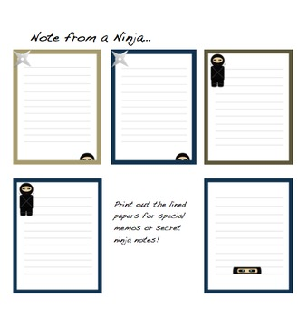 Sneaky Ninjas: Clip Art, Backgrounds, and Borders