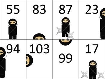 Sneaky Ninjas Comparing Numbers
