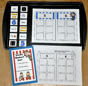 """Number Recognition Activities--""""Sneaky Numbers Cookie Shee"""