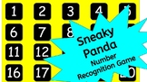 Sneaky Panda - Numbers 1-20 Recognition Game