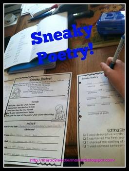 Sneaky Poetry Freebie