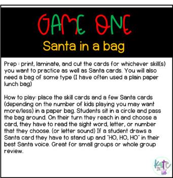 Sneaky Santa *many ways to play* December Center